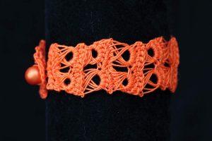 Csipke karkötő narancs - F330