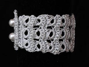 Csipke karkötő ezüst