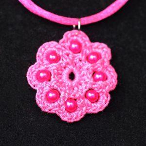 Gerbera nyaklánc pink – F8313