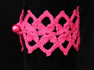 Pikós karkötő pink - F8313