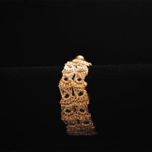 Csipke karkötő arany